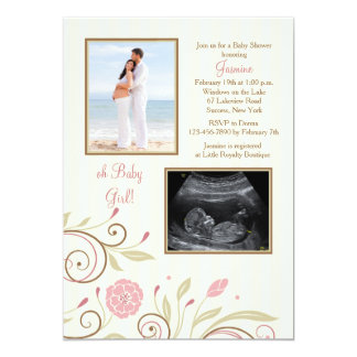 It's A Girl Photo Baby Shower Invitation