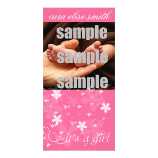 IT'S A GIRL PHOTO CARD