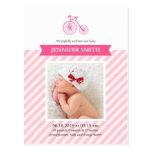 It's a Girl Photo Cute Announcement Postcard