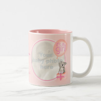 It's a girl photo newborn baby commemorative mug