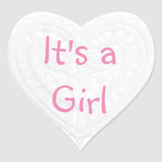"""It's a Girl"" Pink and White Thank You Stickers"