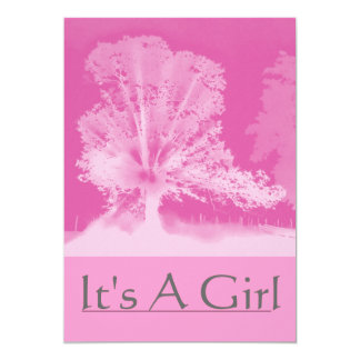 It's A Girl Pink Announcement