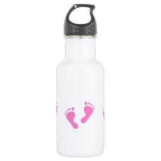 It's a Girl - Pink Baby Feet 18oz Water Bottle