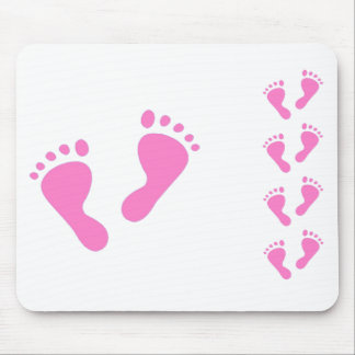It's a Girl - Pink Baby Feet Mouse Pad