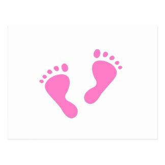 It's a Girl - Pink Baby Feet Postcard
