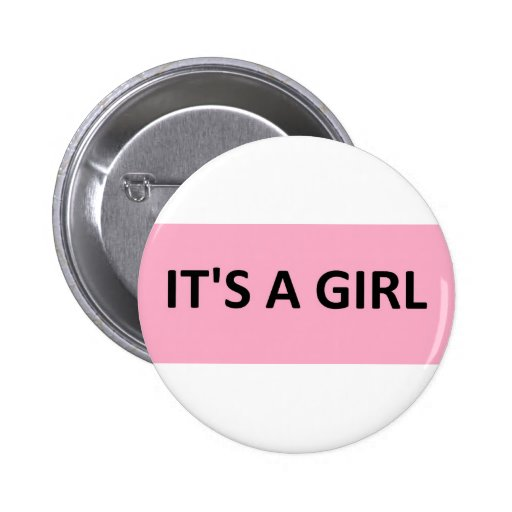 ITS A GIRL PINK BUTTON