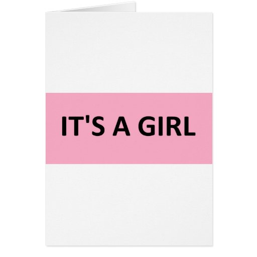 ITS A GIRL PINK CARD