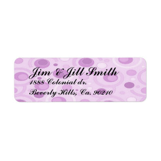 It's A Girl Pink Carousel Set Return Address Labels