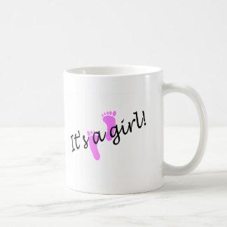 It's A Girl (Pink Feet) Classic White Coffee Mug