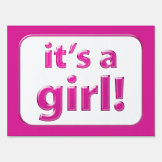 Its A Girl! Pink New Baby Yard Sign