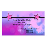 It's A Girl Pink Stars Set Business Cards