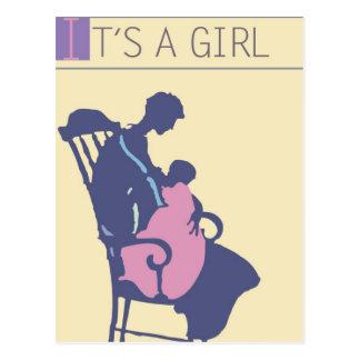 <It's a Girl> por el minero de Steve Postales
