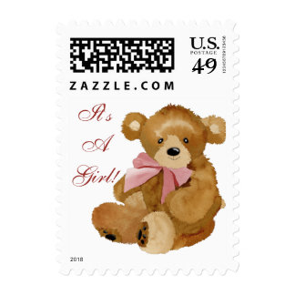It's A Girl! Postage Stamps