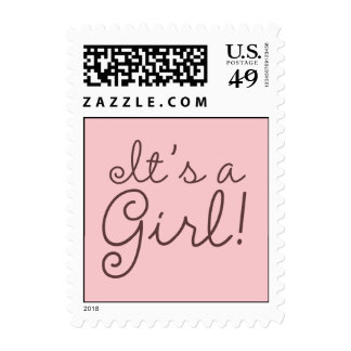 It's A Girl! Stamp