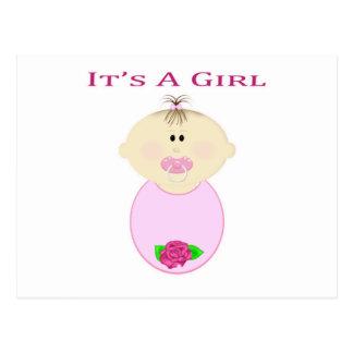 It's a Girl Postcard