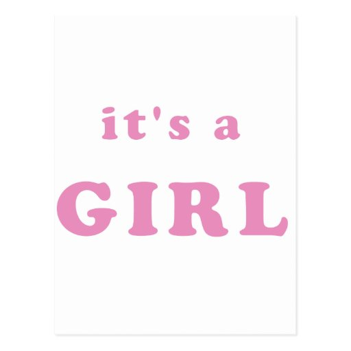 It's a Girl Postcards