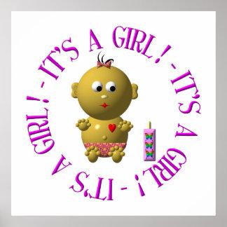 It's a girl! print