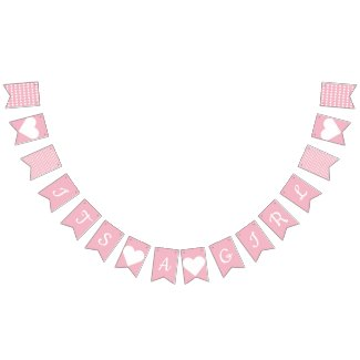 Its A Girl Preppy Bunting Bunting Flags