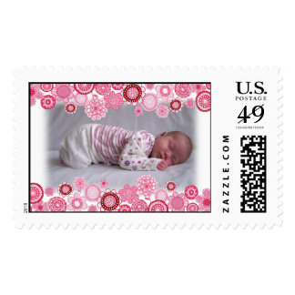 """""""it's a girl"""" Pretty Pink Baby Photo Frame Postage"""