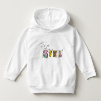 """""""It's A Girl"""" Quilted Toddler Pullover Hoodie"""