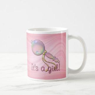 IT'S A GIRL RATTLE by SHARON SHARPE Coffee Mug