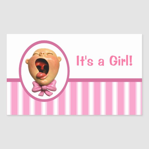 It's a Girl! Rectangular Sticker