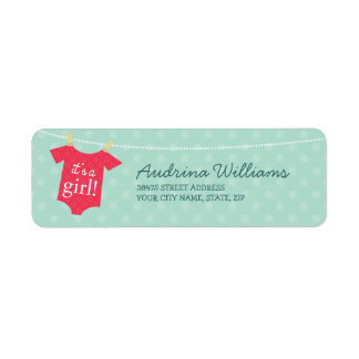 It's a Girl Return Address Label
