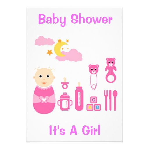it 39 s a girl save the date baby shower invitation 5 x 7 invit