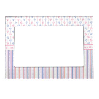It's a Girl Sip and See Baby Welcome Party Magnetic Photo Frame