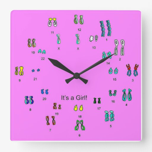 It's a girl square wall clock