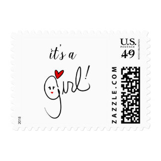 It's A Girl Stamp