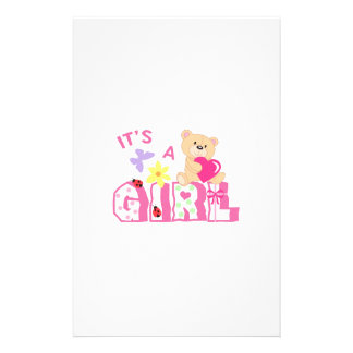 ITS A GIRL STATIONERY DESIGN