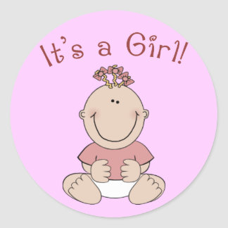 """""""It's a Girl!"""" Stickers"""