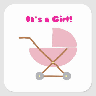 Its a Girl Square Stickers