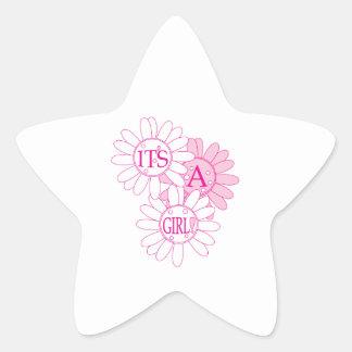 Its A Girl! Star Sticker