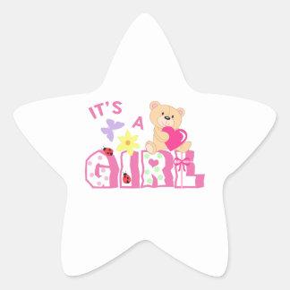 ITS A GIRL STAR STICKER