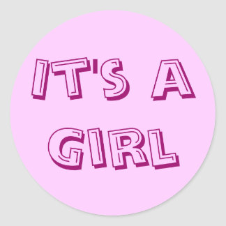 It's a Girl Sticker Seals