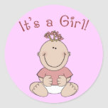 """It's a Girl!"" Stickers"
