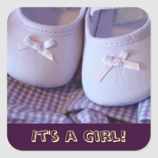 It's a Girl! stickers Lavender Baby Booties shoes
