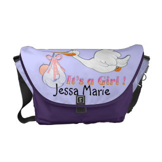 It's A Girl - Stork Baby Diaper Bag