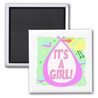 Its A Girl! (Stork) Magnet