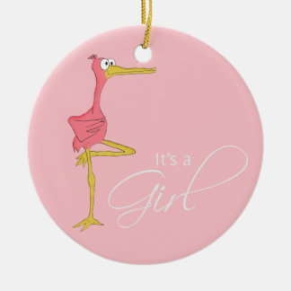 It's a Girl Stork Ornament