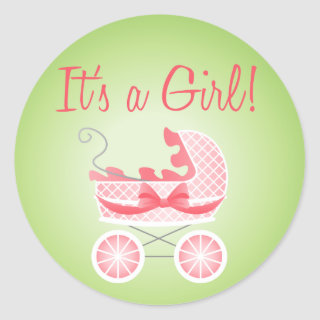 It's A Girl! Stroller Stickers