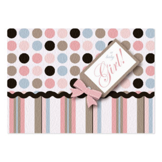 It's a Girl! Thank You Notecard Large Business Cards (Pack Of 100)