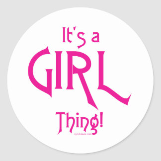 It's a Girl Thing! Sticker