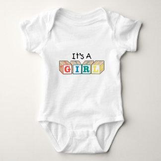 It's A Girl Toy Blocks T-shirt