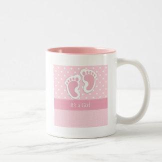 It's A Girl Two-Tone Coffee Mug