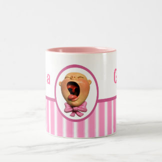 It's a Girl! Two-Tone Coffee Mug