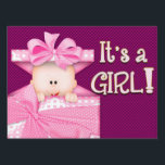 """IT&#39;S A GIRL - YARD SIGN<br><div class=""""desc"""">HAVE THIS SIGN WAITING AND READY TO PUT OUT ONCE THAT BEAUTIFUL BABY GIRL IS BORN... SHOW THE WORLD SHE HAS ENTERED YOUR LIVES!</div>"""