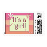 It's a girl!  Yeah! Postage Stamps